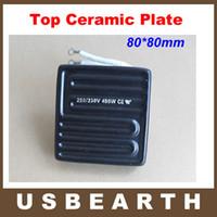 Wholesale Ir Bga - 80*80mm 450W Infrared Top Upper Ceramic Heating Plate For BGA Station IR6000 IR6500 IR-PRO-SC