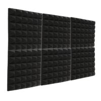 Wholesale soundproofing foam for sale - Group buy 24PCS Fireproof Pyramid Acoustic Foam Recording Studio sound insulation Sponge Sound Treatments Soundproof Panel X12X2 inch