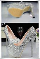 обувь для невесты оптовых-Высокие каблуки обувь горячие женские водонепроницаемый и Алмазный орнамент невесты обувь Мода Леди удобные и нескользящей невесты обувь
