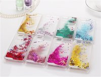 Wholesale galaxy 4s covers - Glitter Bling Stars Dynamic Liquid Hard PC Clear Crystal Case Back Cover For iPhone 4S 5 5S 6 6s plus Galaxy S5 S6 Note 2 3 4