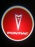 Wholesale Project Led Lighting - 1x PONTIAC Ghost Shadow Cree Led Car Door Logo Led Laser Welcome Project Light 2th
