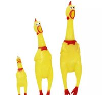 Wholesale Chicken Cat - Adore Pet Dog Toys Rooster Attract Puppy Dog and Cat Pet Squeak Toys Screaming Rubber Chicken Pet Toys 3 Size