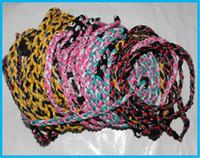 "Wholesale Tornado Necklace Color Ropes - 200pcs Titanium 3 Ropes Necklaces Tornado Sports baseball Necklace 18"" 20"" 22"" more Color DHL Free shipping"