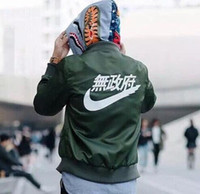 Wholesale Long Green Parka - winter mens jackets coats MA1 Bomber jacket fashion jackets Sport Suit Parkas mens hip hop coats streetwea free shipping