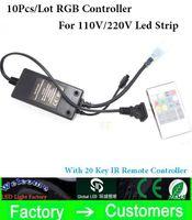 tira de alta tensão led rgb venda por atacado-Prático 20key Infravermelho RGB de alta tensão IR controlador remoto para 220 V / 110 V 3528/5050 RGB LED luz de tira