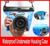 cámara impermeable profesional al por mayor-Bolsa de bolsa impermeable de la caja de la vivienda subacuática impermeable de la fotografía profesional de la bolsa para la cámara de Nikon Canon SLR DSLR