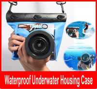 Wholesale Dslr Camera Pouch Case - Professional Pouch Photography Waterproof Underwater Housing Case Dry Bag Pouch for Nikon Canon SLR DSLR Camera