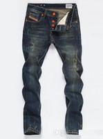 justin jeans venda por atacado-Atacado-2016 Famosa Marca Justin Bieber Jeans Homens Jeans Casual Motociclista dos homens Em Linha Reta Denim Calças Compridas Magros Hip Pop Jeans Tamanho Dos Homens 28-40
