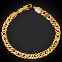 ingrosso nuovo braccialetto della catena del platino-Braccialetto d'argento della catena dei monili delle donne degli uomini delle donne del bollo della catena 18K dell'oro Oro rosa / platino placcato 2015