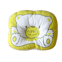 Wholesale Newborn Head Support Pillow - Hot Selling! Bear Pattern Pillow Newborn Infant Baby Support Cushion Pad Prevent Flat Head Free Shipping 500pcs