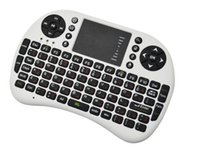 Wholesale Tv Pad For Sale - Wholesale-2015 Hot sale 2.4GH black Mini Wireless Keyboard + Touchpad Mouse Combo for HDPC Win7 Pad Google Andriod TV Box Free Shipping