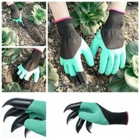 Wholesale plastic thorns resale online - Garden Gloves With Claws Built In Claws OPP BAG easy way to Garden Digging Planting Gloves Waterproof Resistant To Thorns