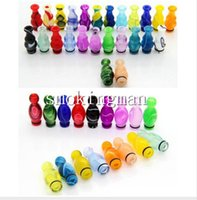 Wholesale Ego Calabash - E-cig 510 calabash candy Drip Tip EGO Acrylic plastic Drip Tips Mouthpiece fo 510 Threading Electronic Cigarette EGO Wide bore RDA Drip Tips