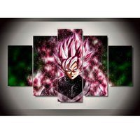 Wholesale Oil Paintings Nudes - Dragon Ball Super Saiyan Anime,5 Pieces Home Decor HD Printed Modern Art Painting on Canvas   Unframed   Framed