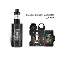 Wholesale printed stickers - Smoant Battlestar Skin Printing Wraps Sticker Cases Cover for Cloupor Smoant Battlestar 200W TC Box Mod Protective Film Stickers 30 Pattern