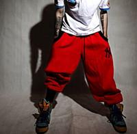 ingrosso pantaloni di cotone baggy per gli uomini-Street Men Lady Hip-hop Baggy Harem Pantaloni Stretch Allentati Cotton Pant Hot FG1511