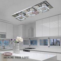 Wholesale Diamond Crystal Led - Modern LED Diamond Crystal Ceiling Light Fitting Lustres Crystal Lights Lamp for Hallway Corridor Living Room Kitchen Fast Shipping