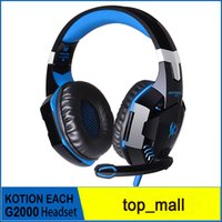 Wholesale Earpiece For Computer - KOTION EACH G2000 Game Headphones Dota 2 Gaming HeadSet Over Ear Headphone Mic for Earpiece HiFi Gamer Earphones 010007
