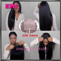 Wholesale Silk Top Human Wigs - Free Style Unprocessed yaki Straight Human Hair With Baby Hair Virgin Brazilian Silk Top Lace Front Full Lace Wig 130 Density Silk Base wig