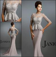 Wholesale Simple Elegant Dress Designs - 2017 New Design Fashion Mother Off Bride Dresses With Jewel Mermaid Applique Court Train Lace Elegant Wedding Pant Suits Cheap Custom