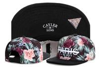 Wholesale Paris Snapback - hot sale brand PARIS BONJOUR cayler & sons flower print street hats for men caps snapback cap hat men casual visor TYMY 354