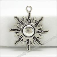 pingentes de sol de liga de zinco venda por atacado-70 pcs encantos do vintage pingente de sol tibetano prata liga de zinco fit pulseira colar diy resultados da jóia do metal