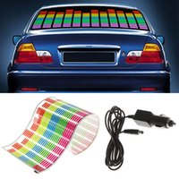 Car Sticker Musica Rhythm LED Flash Light Lampada Sound attivato Equalizzatore Accessori auto luce Car Styling