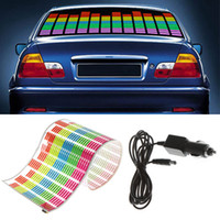 Pegatina del coche Music Rhythm LED Flash Light Lámpara Sonido Activado Equalizer Car Light Accesorios Car Styling