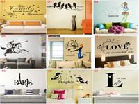 duvar etiketleri alfabe toptan satış-DHL Mix 30 stilleri Çıkarılabilir PVC Aplike Alfabe Duvar Çıkartmaları Ev Dekor Sticker Mordern sanat Mural Çocuklar için Kreş Oturma odası