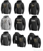 Wholesale Mascot Knight - 2017 NHL Vegas Golden Knights 29 Marc-Andre Name & Number Midnight Mascot Pullover Hoodie for man women kid