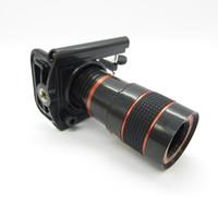lente telescópica zoom 8x venda por atacado-Universal 8x zoom celular telescópio lente do telescópio com suporte lente da câmera focal longo para iphone samsung htc sony blackberry black in retail box
