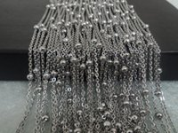Wholesale Fashion Jewelry Deals - Daily Deals wholesale price 5meter   Lot Silver Stainless Steel Fashion Beads Link chain DIY jewelry finding  Marking Women 4mm ball fine