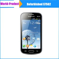 Wholesale Celular Gps - Original Samsung S7562 4''android 4.0 celular camera 5MP wifi GPS 3G dual sim 1GB+4GB capative screen refurbished phones freeshipping 002875