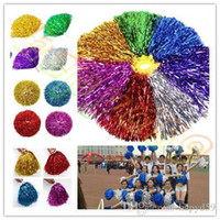 Compra Fiori Concorrenza-30g Modish Cheer Dance Sport Supplies Concorrenza Cheerleading Pom Poms Flower Ball Lighting Up Party Cheer Fancy Pom Poms equipaggiamento