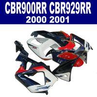 Wholesale Honda Cbr 929 Fairings Red - 7 Gifts for HONDA CBR900RR fairing kit CBR929 2000 2001 red white black CBR 929 RR CBR929RR 00 01 fairings set HB28