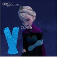 Wholesale Thin Silk Baby - Wholesale-2015 New Anna Elsa Cosplay Glove Baby Mittens Handguards Gauntlet Gloves Brand Kid Thin Silk Gloves