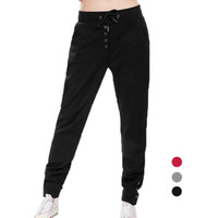 Wholesale Black Satin Skinny Pants - S5Q Women Loose Casual Sport Dance Lacing Harem Slack Sweat Pants Jogging Trouser AAAEVM