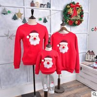 Wholesale Christmas Tree Sweatshirt - Family Matching Outfits Christmas Clothing Mother and Daughter Thick Sweatshirt Tops Family Clothes Santa Claus Christmas Tree Sweatshirts