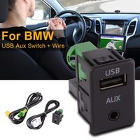 Wholesale Bmw Series E87 - Sentaile USB Aux Switch + Wire Cable Adapter for BMW 3 5 Series E87 E90 E91 E92 X5 X6 AC516 (Size: For BMW , Color: Black & Green)