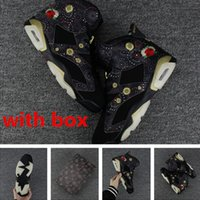 Wholesale Best Eur - Retro 6 CNY Chinese New Year men basketball shoes best quality wholesale discount air 6 size eur 41-47 free shipping