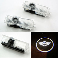 Wholesale Wholesale Car Accessory S - 2PCS car door light and line For Mini Cooper One S R55 R56 R58 R59 R60 R61 F55 F56 Countryman Clubman laser Lamp Projector LED Accessories