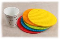 Wholesale Heat Resistant Polyester - Wholesale Table Mats 11 Colors Non-Slip Heat Resistant Mat Coaster Cushion Placemat Pot Holder Table Silicone Mat Kitchen Accessories