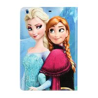 Wholesale Queen Dust - Fro zen Gril Snow Queen PU Leather shell case for iPad mini mini2 3 with stand cartoon flip cover New style High quality Fashion Free Ship