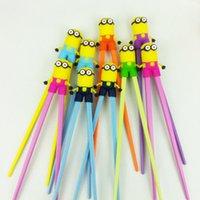 Wholesale Despicable Dhl - Wholesale cute Minions Despicable Me cartoon training Chopsticks children's learning chopsticks factory outlet Free DHL shipping