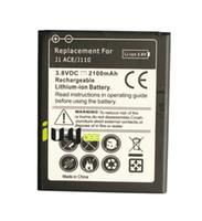 batería para galaxy ace al por mayor-1x 2100mAh Batería de repuesto recargable de iones de litio para Samsung Galaxy J1 ACE J110 Baterías Baterías