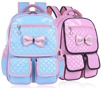 Wholesale School Bag Princesses - 2016 Retail 1PC Girls School Bags Backpack Sweet Princess School Backpacks For Children Age 5-12 Years ZZ2907