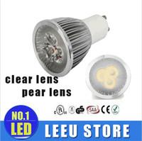 Wholesale Mr16 Lumens - Quality upgrade led 3*2W 6w GU10 lights 60 Angle Dimmable E27 E26 E14 MR16 Led bulbs 540 lumens warm cool white led spotlights110V 220V