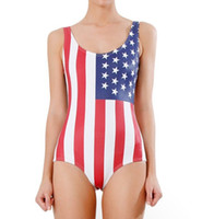 Wholesale Usa Flag Fashion Bikini - Fashion Swimwear Sexy USA Flag American flag Star Stripe Bikini set Swimsuit Swimwear one-piece swimming suit New Arrival US Flag Swimwears