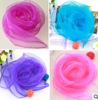 Wholesale Cheap Head Scarfs - Promotion !!Cheap wholesale Solid Color Silk Scarf Small Candy Color Scarf Women Wear Scarves Wholesale Head Bands Holiday style