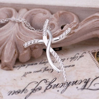 Wholesale Rhinestone Products - new products women lady 925 sterling silver fashion charm Cross pendant Austrian crystal zircon necklace Jewelry N380